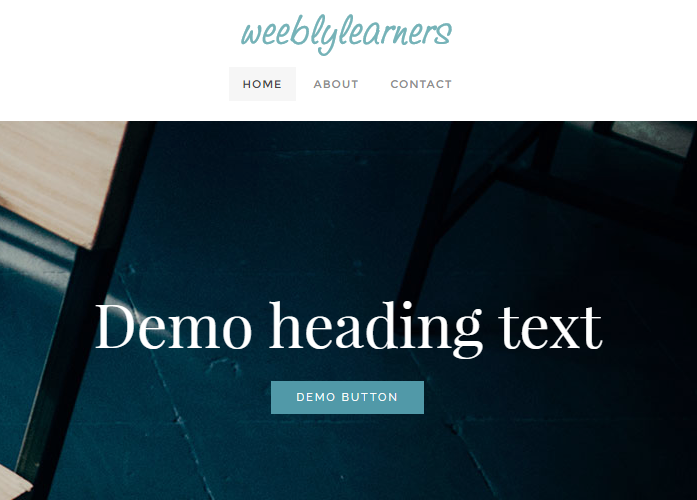 Menu and Logo are Block: Add Custom option in weebly theme