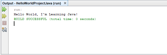 hello world program java