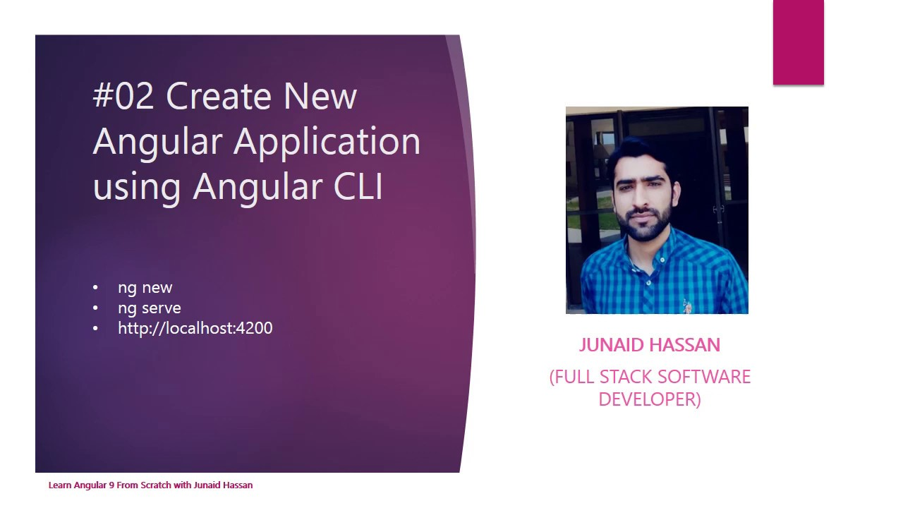 Create a new angular application - learn angular from scratch with Junaid Hassan